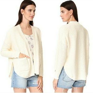 Madewell Skipper Cardigan Sweater Ivory